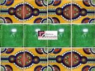 Cenefa en Azulejo Talavera modelo Indian con Liso Verde Deslavado en 10.5 x 10.5 cm, ideal para baños y cocinas mexicanas lo encuentras en Rústicos Artesanales visítanos en nuestra web www.rusticosartesanales.com