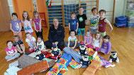 Spende für Kindergarten