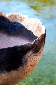 Detailaufnahmer einer Rauchbrand-Schale
