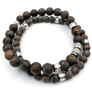 Männerarmbänder, Männer Armband, Lapislazuli, Silber, Silber vergoldet, handgefertigt, Designerschmuck