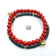 Armbänder, Damenarmbänder, Jaspis, grün-braun, Silber 925, handgefertigt, Designerschmuck