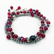 Armbänder, Damenarmbänder, Rot, Silber 925, handgefertigt, Designerschmuck