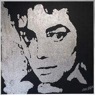 Portrait paillettes de Mickael Jackson