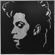 Portrait paillettes de Prince