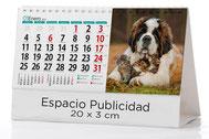 Calendario publicitario sobremesa 7 hojas. Temas  variados