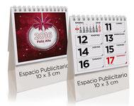 Calendario publicitario sobremesa semanario de 28 hojas