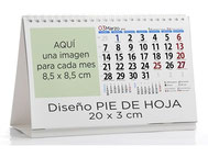 Calendario publicitario sobremesa personalizado