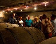"""Bei der Weinprobe in Rech an der Ahr ist der Gang in den Holzfasskeller der Schlußpunkt, wo Ihnen viele Erklärungen zum Thema """"Rotwein"""" vermittelt werden. Freuen Sie sich auf eine sehr umfangreiche Weinprobe in einem Weingut an der Ahr."""