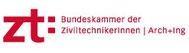 Logo ZT - Bundeskammer der Ziviltechnikerinnen | Arch+Ing