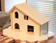 お家の本体を制作して装飾をしていきます