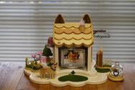 ペット仏壇、かわいいペット仏壇、天使のおうち、手作り仏壇
