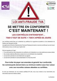 loi anti-fraude, csi, caisse enregistreuse