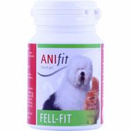 Fell-Fit ist ein Wirkstoffkomplex von Kräutern, Vitaminen, Spurenelementen und Fettsäuren zum Erhalt und Wachstum eines kräftigen, glänzenden Fells bei Hunden und Katzen.