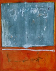 ORANGE, Acryl auf Leinwand, 80 x 100 cm, 2004