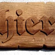 Namensschild Guthier