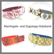 Martingale- und Zugstopp-Halsband, Hundehalsband, Hund, Hundehalsband aus Stoff, Windhund, Windhundhalsband, Podenco, Galgo,