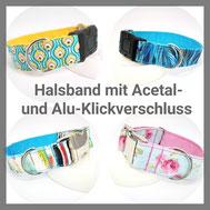 Halsband mit Klickverschluss, Hundehalsband, Hund, Hundehalsband aus Stoff,