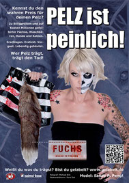 Anti-Pelz Kampagne | Deutschland  Animals United Sandy P.Peng