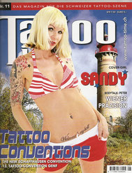 sandyppeng Tattoomagazin TattooTime Sandy P.Peng Cover | Titelseite