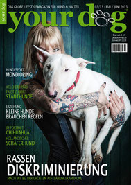 sandyppeng Tattoomodel Sandy P. Peng Cover | Titelseite Your Dog Magazin