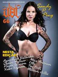 Tattoomodel Sandy P. Peng Cover Tattoomagazin Brasilien sandyppeng
