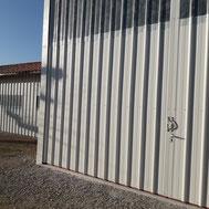 Portes coulissantes de hangar par ACMB Charpente metallique construction Brioux 79