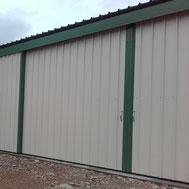 portail de hangar par ACMB Charpente metallique construction Brioux 79