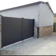 Portail de maison par ACMB Charpente metallique construction Brioux 79