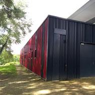 Bardage des bâtiments gymnase Melle en charpente métallique par ACMB 79, 86, 16 et 17
