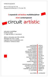 exposición colecctiva en Barcelona con Circuit Artistic