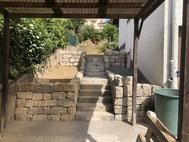 Vorher / Nachher Mauerbau