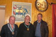 2. Rang Senioren 3: Josef Kessler, 1. Rang und Bezirksmeister Senioren 3: Georg Macek, 5. Rang Senioren 2: Hans Moschner