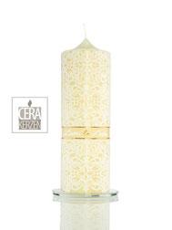 Hochzeitskerze weiß gold, Individualisierte Hochzeitskerze, Beschriftung aus Wachs, Schlichte Traukerze, Traukerze , heiraten