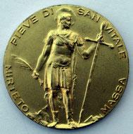 Medaglia Pieve di san Vitale a Mirteto, Massa.