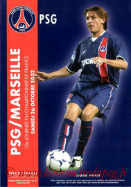 Programme  PSG-Marseille  2002-03