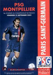 Programme  PSG-Montpellier  2001-02