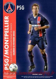 Programme  PSG-Montpellier  2002-03