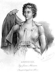 Gravure extraite de : Biographie des sages-femmes célèbres, anciennes, modernes, contemporaines, par A. Delacoux, 1833.