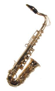 Mini-Saxophon aus Messing 12,5 cm lang