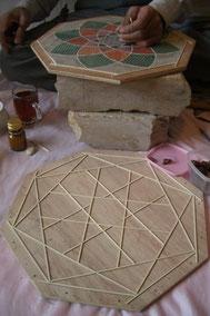 artisan - khatam - travail des incrustations