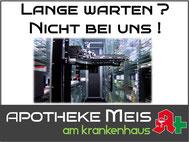Arzneimittelautomat in der Apotheke Meis am Krankenhaus Cloppenburg kein Warten Apotheke Cloppenburg Komissionierer schnelle bedienung in der apotheke meis am krankenhaus cloppenburg