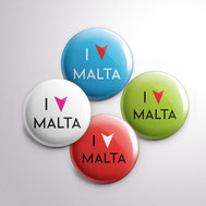 Malta souvenirs gifts pins I love Malta