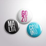 Malta souvenirs gifts pins Malta Gozo Comino