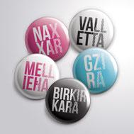 Malta souvenirs gifts pins Maltese Cities Valletta Gzira Birkirara Mellieha Naxxar