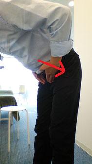 奈良県大和高田市の前屈で腰が痛い男性