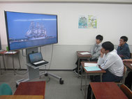 講話の前に事前指導で射水市の動画視聴。