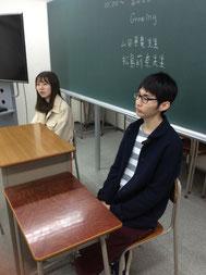 先に来た2名の学生が質疑応答。