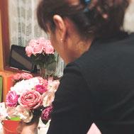 名古屋市中村区 花屋hitotoki ウェディングブーケ レッスン