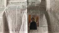 """Artikel zu Stefan Stichler in der FAZ zur Ausstellung """"Wege"""", Februar 2021"""