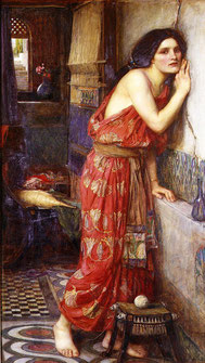 John William Waterhouse, Thisbé, 1909, collection privée. Source : Wikipedia, Domaine public.